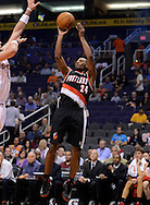 Oct. 12, 2012; Phoenix, AZ, USA; Portland Trail Blazers guard Ronnie Price (24) puts up a shot against the Phoenix Suns during the first half at US Airways Center. Mandatory Credit: Jennifer Stewart-US PRESSWIRE.