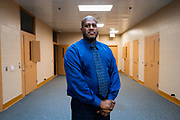 Juvenile Detention Superintendent Edjron Pearson poses for a portrait inside the proposed space for the Senior Resource Center inside the Juvenile Detention Center at the City County Building in Madison, Wisconsin, Wednesday, June 12, 2019.