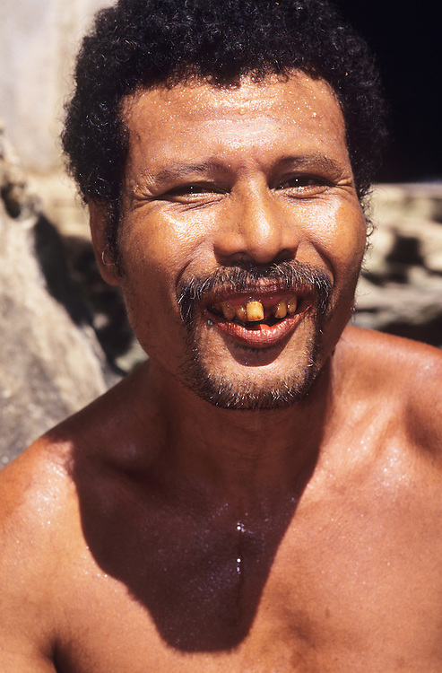 Male native with Betelnut smile, Yap, Wa`ab, Waqab, Federated States of Micronesia, islands in the Caroline Islands