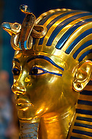 Gold Mask of of King Tut, Egyptian Museum, Cairo, Egypt
