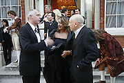 Neil Tennant, Zaha Hadid and Brian Clarke Ark Gala Dinner, Marlborough House, London. 5 May 2006. ONE TIME USE ONLY - DO NOT ARCHIVE  © Copyright Photograph by Dafydd Jones 66 Stockwell Park Rd. London SW9 0DA Tel 020 7733 0108 www.dafjones.com