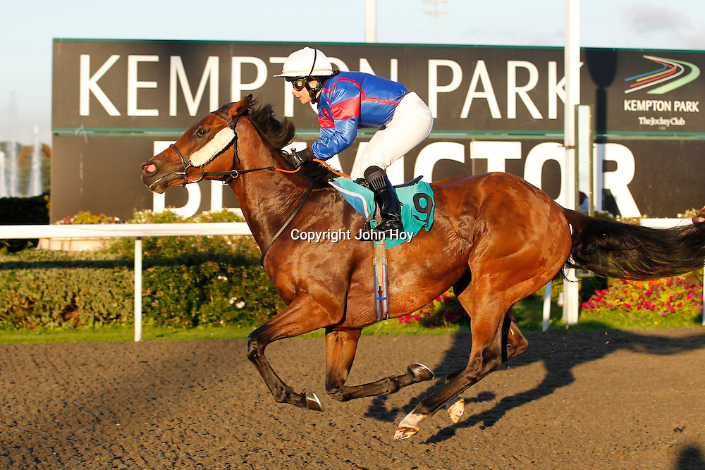 Princess Spirit and Jennifer Ferguson winning the 6.10 race