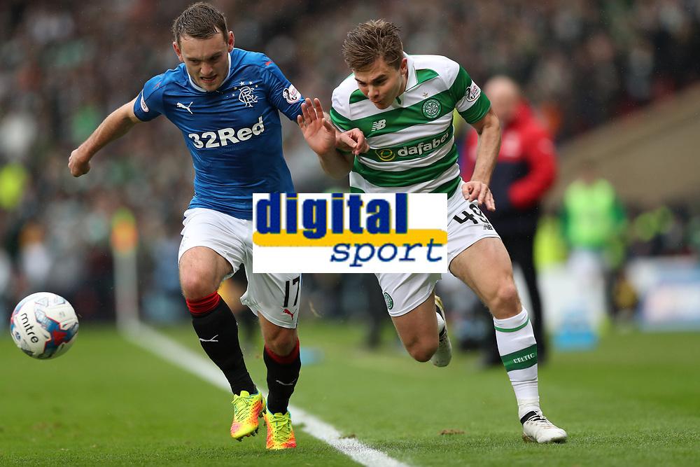Football - 2016 / 2017 Scottish League Cup - Semi-Final - Celtic vs. Rangers<br /> <br /> Lee Hodson of Rangers and James Forrest of Celtic at Hampden Park.<br /> <br /> COLORSPORT/LYNNE CAMERON