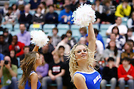 Guildford, England, Sunday 21st March 2010: Cheerleaders perform during the BBL Trophy Final between Cheshire Jets and Newcastle Eagles at the Guildford Spectrum, Surrey, UK (photo by Lee Irvine/SLIK images)