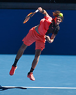ANDREY RUBLEV (RUS), von oben<br /> <br /> Tennis - Australian Open 2018 - Grand Slam / ATP / WTA -  Melbourne  Park - Melbourne - Victoria - Australia  - 19 January 2018.