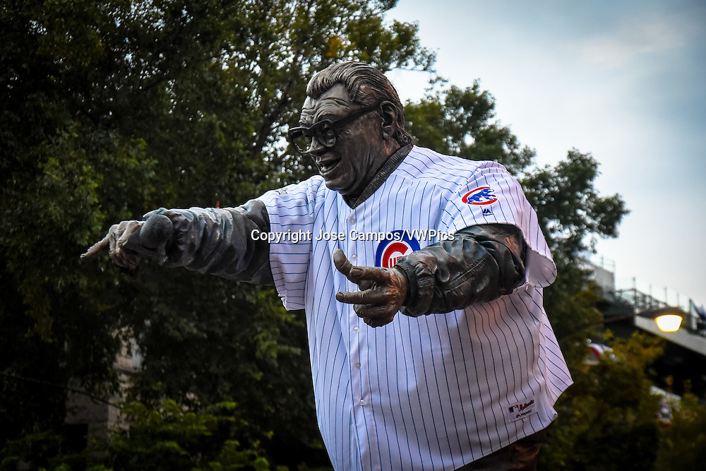 Harry Caray sculpture. Wrigley Field is a baseball park located on the North Side of Chicago, Illinois. It is the home of the Chicago Cubs, one of the city's two Major League Baseball (MLB) franchises.