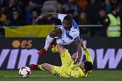 January 10, 2018 - Vila-Real, Castellon, Spain - Beauvue (top) of CD Leganes competes for the ball with Alvaro of Villarreal CF during the Copa del Rey Round of 16, second leg game between Villarreal CF and CD Leganes on January 10, 2018 in Vila-real, Spain  (Credit Image: © David Aliaga/NurPhoto via ZUMA Press)