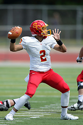 19 September 2015:  Caleb Frye during an NCAA division 3 football game between the Simpson College Storm and the Illinois Wesleyan Titans in Tucci Stadium on Wilder Field, Bloomington IL
