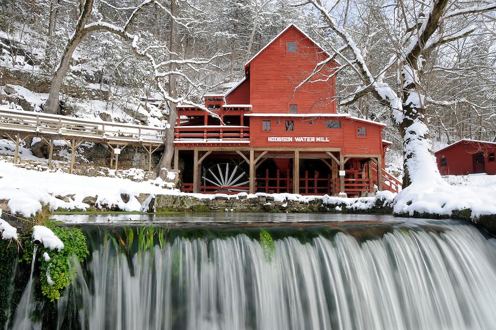Hodgson Mill in the winter, Ozark County, Missouri.