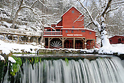 Hodgson Mill in the winter, Ozark County, Missouri.