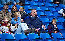 CARDIFF, WALES - Tuesday, August 21, 2014: Former Wales player Neville Southall watches during the FIFA Women's World Cup Canada 2015 Qualifying Group 6 match between Wales and England at the Cardiff City Stadium. (Pic by David Rawcliffe/Propaganda)