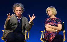 OCT 02 2013 Dexter Fletcher and Jane Horrocks at Apple Store