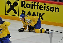 11.05.2013, Globe Arena, Stockholm, SWE, IIHF, Eishockey WM, Schweden vs Slowenien, im Bild Sverige Sweden 44 Niklas Danielsson // during the IIHF Icehockey World Championship Game between Sweden and Slovenia at the Ericsson Globe, Stockholm, Sweden on 2013/05/11. EXPA Pictures © 2013, PhotoCredit: EXPA/ PicAgency Skycam/ Simone Syversson..***** ATTENTION - OUT OF SWE *****
