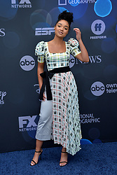 May 14, 2019 - New York, NY, USA - May 14, 2019  New York City..Aisha Dee attending Walt Disney Television Upfront presentation party arrivals at Tavern on the Green on May 14, 2019 in New York City. (Credit Image: © Kristin Callahan/Ace Pictures via ZUMA Press)