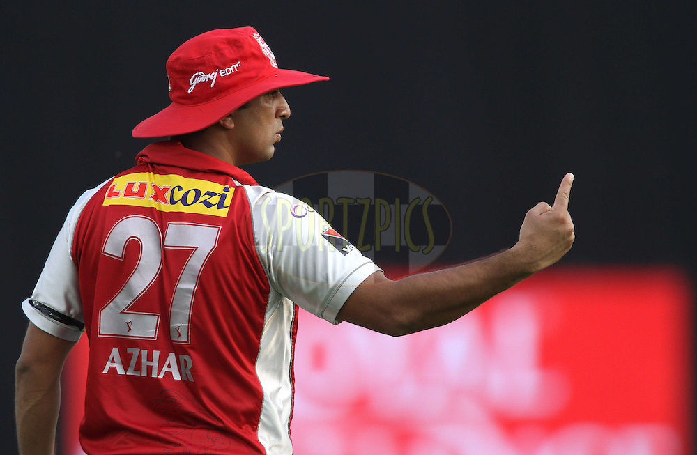 Azhar Mahmood of the Kings XI Punjab during match 33 of the the Indian Premier League (IPL) 2012  between The Kings X1 Punjab and The Mumbai Indians held at the Punjab Cricket Association Stadium, Mohali on the 25th April 2012..Photo by Shaun Roy/IPL/SPORTZPICS