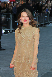 © Licensed to London News Pictures. 08/10/2014, UK. Keira Knightley, The Imitation Game - BFI London Film Festival Opening Night Gala, Leicester Square, London UK, 08 October 2014. Photo credit : Richard Goldschmidt/Piqtured/LNP