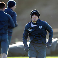 St Johnstone Training…..29.01.16<br />David Wotherspoon pictured during training at McDiarmid Park this morning ahead of tomorrow's League Cup semi-final against Hibs at Tynecastle<br />Picture by Graeme Hart.<br />Copyright Perthshire Picture Agency<br />Tel: 01738 623350  Mobile: 07990 594431