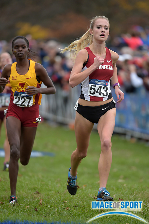 Nov 21, 2015; Louisville, KY, USA; Vanessa Fraser of Stanford places 40th in 20:27 during the 2015 NCAA cross country championships at Tom Sawyer Park. Mandatory Credit: Kirby Lee-USA TODAY Sports