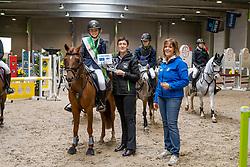 Vlekken Noémie, BEL, Laser vd Mereyt<br /> Nationaal Indoor Kampioenschap Pony's LRV <br /> Oud Heverlee 2019<br /> © Hippo Foto - Dirk Caremans<br /> 09/03/2019