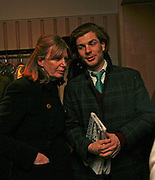 THE COUNTESS OF SNOWDON AND RODOLPHE VON HOFMANNSTHAL. After-drinks JOSEPHINE HART Poetry Hour. British Library. Euston Rd. London. 22 March 2006. ONE TIME USE ONLY - DO NOT ARCHIVE  © Copyright Photograph by Dafydd Jones 66 Stockwell Park Rd. London SW9 0DA Tel 020 7733 0108 www.dafjones.com