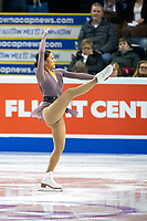 KELOWNA, BC - OCTOBER 25: American figure skaterJessica Calalang competes in the pairs short program of Skate Canada International held at Prospera Place on October 25, 2019 in Kelowna, Canada. (Photo by Marissa Baecker/Shoot the Breeze)