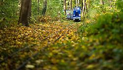 THEMENBILD - Herbst im Wiener Prater. Das Bild wurde am 27. Oktober 2013 aufgenommen. im Bild Liliputbahn // THEMES PICTURE - Autumn at Prater in Vienna. The image was taken on october, 27th, 2013. Picture shows miniature railway, AUT, EXPA Pictures © 2013, PhotoCredit: EXPA/ Michael Gruber