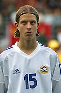 16.08.2003, T??l? Stadium, Helsinki, Finland.FIFA U-17 World Championship - Finland 2003.Match 12: Group A - Finland v Mexico.Sami Sanevuori - Finland.©Juha Tamminen