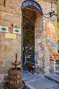 Pensione entrance, Riomaggiore, Cinque Terre, Liguria, Italy