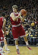 December 31 2012: Indiana Hoosiers guard Jordan Hulls (1) grabs a rebound during the first half of the NCAA basketball game between the Indiana Hoosiers and the Iowa Hawkeyes at Carver-Hawkeye Arena in Iowa City, Iowa on Monday December 31, 2012. Indiana defeated Iowa 69-65.