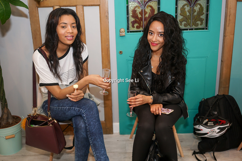 Isabel Watson (R) -thebritalianway attends the Threads & Co Beauty launches permanent retail concept store everything from coffee to beauty to retail therapy on 24th May 2017. by See Li