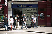 Field and Trek shop closing down, central London, England