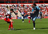 Photo: Steve Bond.<br />Walsall v Swansea City. Coca Cola League 1. 25/08/2007. Jason Scotland traps the ball