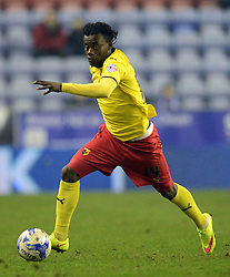 Watford's Juan Carlos Paredes in action - Photo mandatory by-line: Richard Martin-Roberts/JMP - Mobile: 07966 386802 - 17/03/2015 - SPORT - Football - Wigan - DW Stadium - Wigan Athletic  v Watford - Sky Bet Championship
