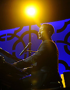 """Musician John Legend performs at the Starkey Hearing Foundation's """"So the World May Hear"""" Awards Gala on Sunday, July 20, 2014 in St. Paul, Minn. The foundation gives away more than 100,000 hearing aids in the U.S. and around the world annually. (Photo by Diane Bondareff/Invision for Starkey Hearing Foundation/AP Images)"""