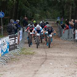 GASSELTE (NED) MOUTAINBIKEN<br />Geopark Hondsrug Classic 2019 is gewonnen door Coen Vermeltvoort voor GertJan Bosman en Bas Peeters