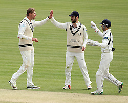 Middlesex's Ollie Rayner celebrates the wicket of Durham's Chris Rushworth - Photo mandatory by-line: Robbie Stephenson/JMP - Mobile: 07966 386802 - 04/05/2015 - SPORT - Football - London - Lords  - Middlesex CCC v Durham CCC - County Championship Division One