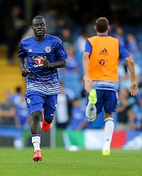 N'Golo Kante of Chelsea warms up - Rogan Thomson/JMP - 15/08/2016 - FOOTBALL - Stamford Bridge Stadium - London, England - Chelsea v West Ham United - Premier League Opening Weekend.