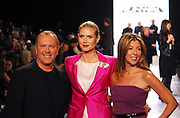 (L-R) Michael Kors, Heidi Klum and Nina Garcia pose during Project Runway Season 6 Finale taping at Mercedes-Benz Fashion Week Fall 2009 show.