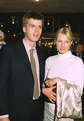 The HON.ORLANDO & MRS MONTAGU, he is the son of the Earl of Sandwich who disclaimed his peerages in 1964, at a party in London on 5th June 1997.LYZ 58
