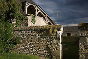 Abandoned farmhouse property in French Indre-et-Loire region, France.