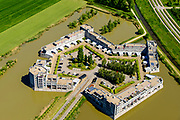 Nederland, Noord-Brabant, Den Bosch, 13-05-2019; De Haverleij, landschappelijke woonwijk met als achterliggend idee landgoed-stijl met kastelen. Stedenbouwkundig ontwerp Sjoerd Soeters en Pail van Beek.<br /> <br /> De Haverleij, a residential neighborhood in estate style with castles.<br /> luchtfoto (toeslag op standard tarieven);<br /> aerial photo (additional fee required);<br /> copyright foto/photo Siebe Swart