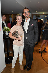 STEPHEN & KATHERINE VAN ROOYEN at the opening of No. 8 Dover Street, the new Aston Martin Art of Living boutique on 1st September 2016.