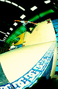 Skater Michael Davey back side wallside, UK 2000's