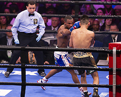 January 26, 2019 - New York, New York, United States - Tugstsogt Nyambayar won WBC featherweight eliminator fight against Claudio Marrero at Barclays Center (Credit Image: © Lev Radin/Pacific Press via ZUMA Wire)