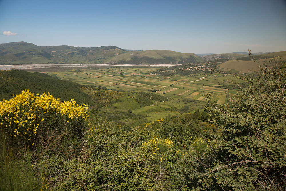 The fields of Kuta, will be flooded by the Vjosa River in the distance, if the Pocem dam is built. The flooding will destroy the livelihood of the rural village in southern Albania.