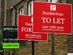 UK ENGLAND LONDON 27NOV13 - For sale signs outside a property in Bravington Road, Westminster, London.<br /> <br /> jre/Photo by Jiri Rezac<br /> <br /> © Jiri Rezac 2013