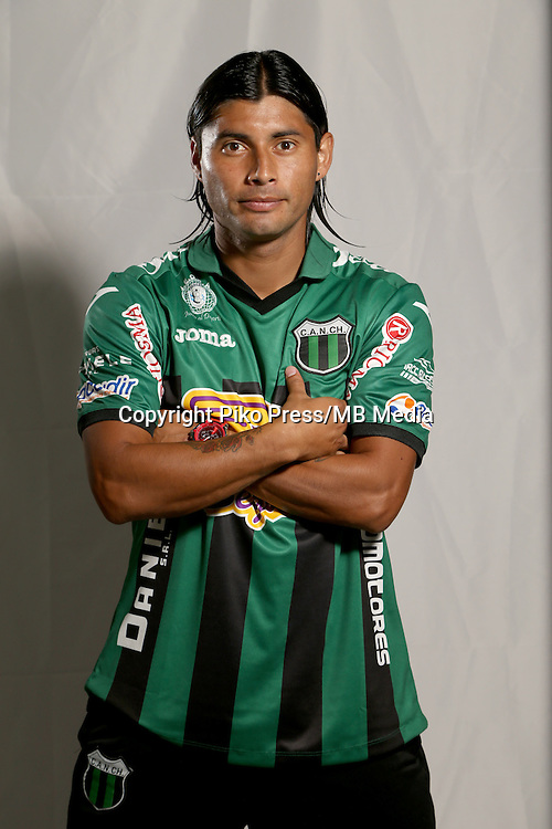 CAMPEONATO ARGENTINO Soccer / Football. <br /> NUEVA CHICAGO Portraits <br /> Bs.As. Argentina. - April 11, 2015<br /> Here Nueva Chicago player Mauricio Arias<br /> &copy; PikoPress