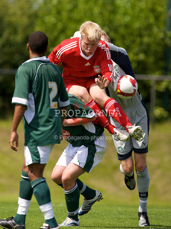 KIRKBY, ENGLAND - Saturday, July 26, 2008: Liverpool's Lauri Dalla Valle in action against Plymouth Argyle during a pre-season friendly match at the Academy. (Pic by David Rawcliffe/Propaganda)
