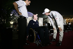 Motorsports / Formula 1: World Championship 2010, GP of Abu Dhabi, Frank Williams (Teamchef AT&T Williams), 04 Nico Rosberg (GER, Mercedes GP Petronas),