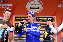 March 23, 2019 - Milan, France - ALAPHILIPPE Julian of Deceuninck - Quick Step, NAESEN Oliver of AG2R La Mondiale, .KWIATKOWSKI Michal of Team Sky (Credit Image: © Panoramic via ZUMA Press)